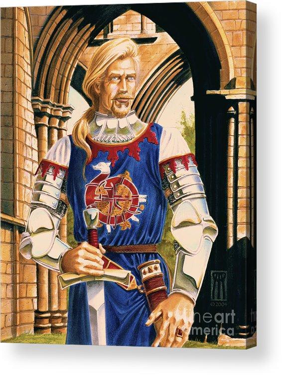 Swords Acrylic Print featuring the painting Sir Dinadan by Melissa A Benson