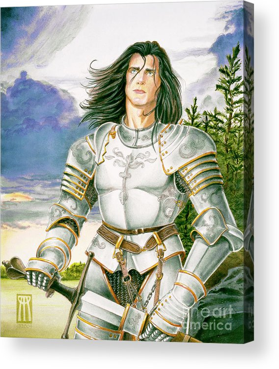 Swords Acrylic Print featuring the painting Sir Lancelot by Melissa A Benson