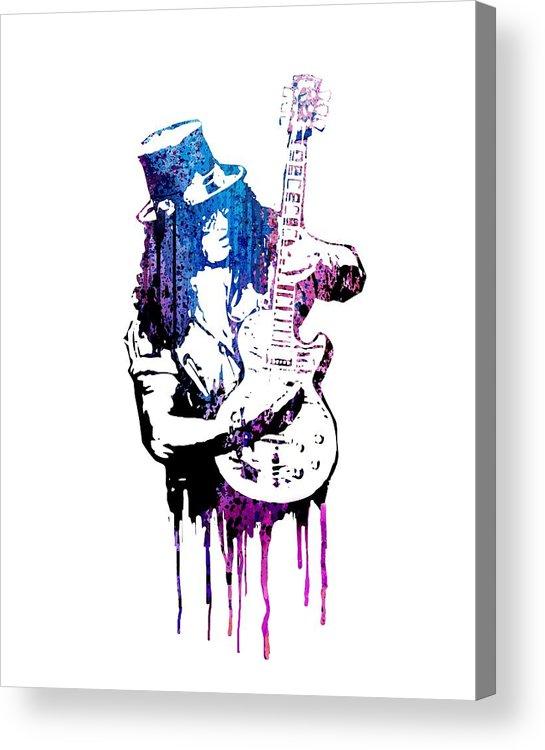 Slash Acrylic Print featuring the painting Slash by Art Popop