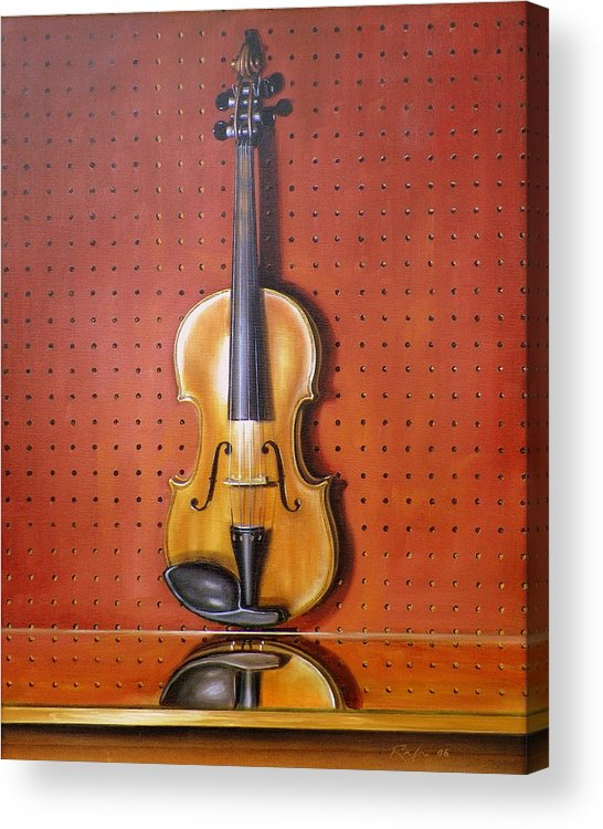 Art Acrylic Print featuring the painting Still Life of Violin by RB McGrath