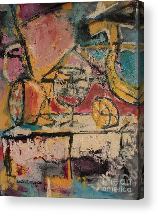 Stil Life Acrylic Print featuring the painting Still Life with Glass by Michael Henderson