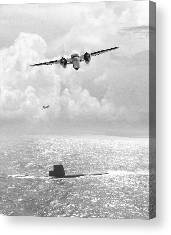 Aviation Acrylic Print featuring the digital art Stoof Over Sub by Mike Ray