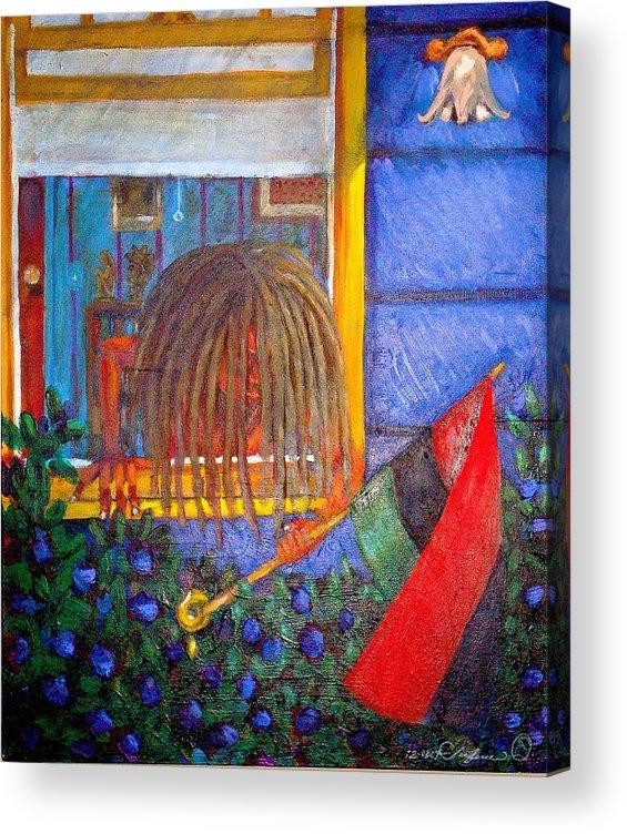 Malik Seneferu Acrylic Print featuring the painting Summer Nights by Malik Seneferu
