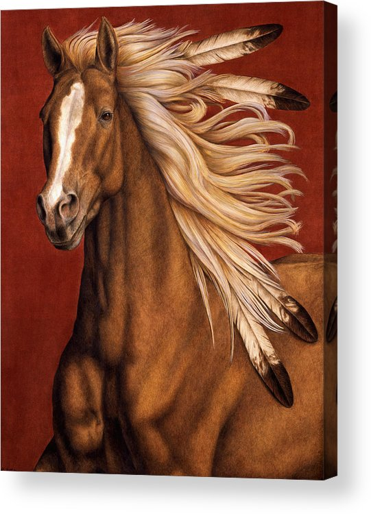 Horse Acrylic Print featuring the painting Sunhorse by Pat Erickson