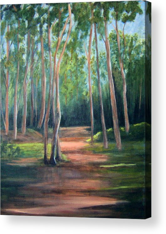 Landscape Acrylic Print featuring the painting Sunlight and Shadows by Lorna Skeie