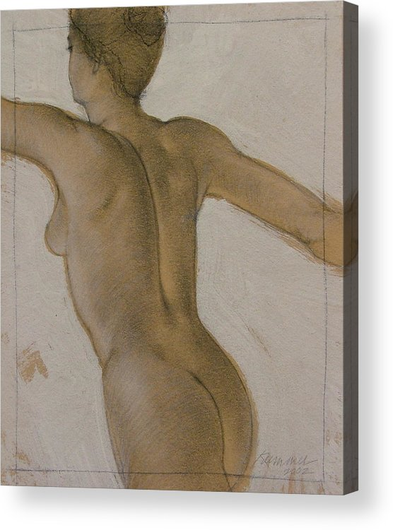 Female Figure Acrylic Print featuring the painting The Dancer by Gary Kaemmer