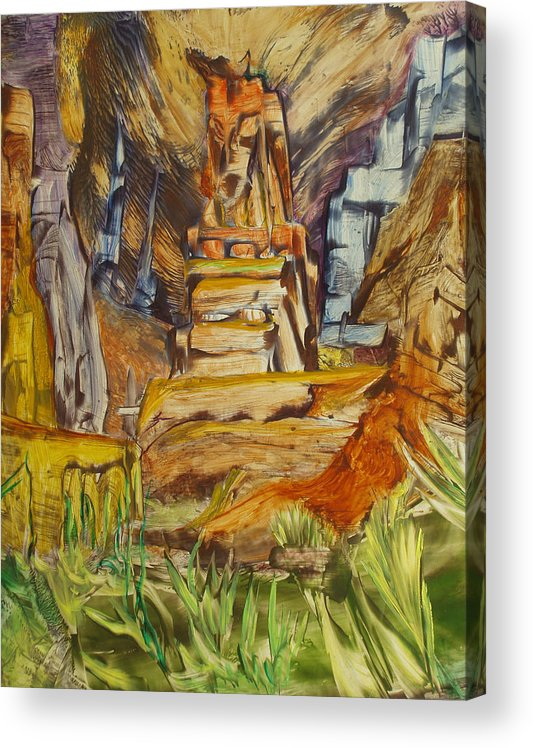 Wax Acrylic Print featuring the painting The Gate by Ibrahim Rahma