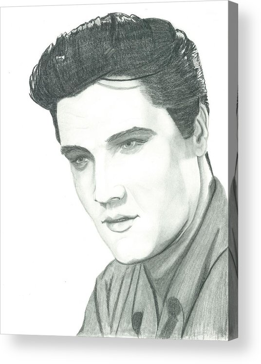 Elvis Acrylic Print featuring the drawing The King by Seventh Son
