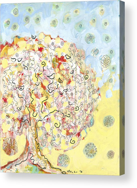 Tree Acrylic Print featuring the painting The Talking Tree by Jennifer Lommers