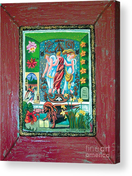 Women Acrylic Print featuring the painting The Three Sisters by Genevieve Esson
