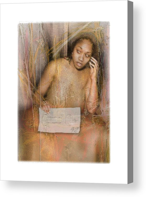 Portrait Acrylic Print featuring the digital art The Wading by Nuff