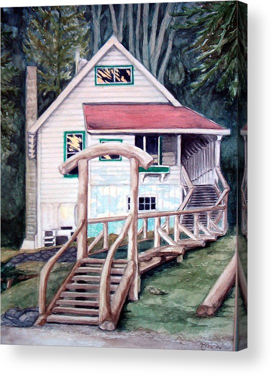 Old House Acrylic Print featuring the painting The Waterfront by Tahirih Goffic