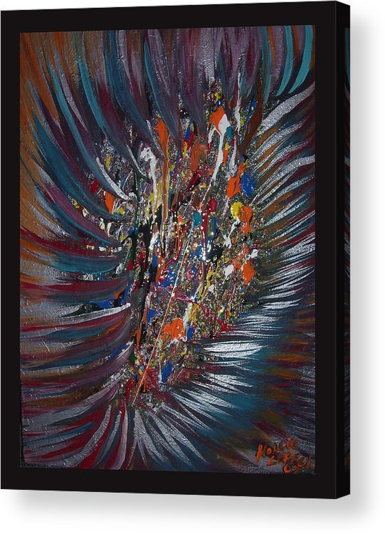 Abstract Acrylic Print featuring the painting Untitled Abstract by Hollie Leffel