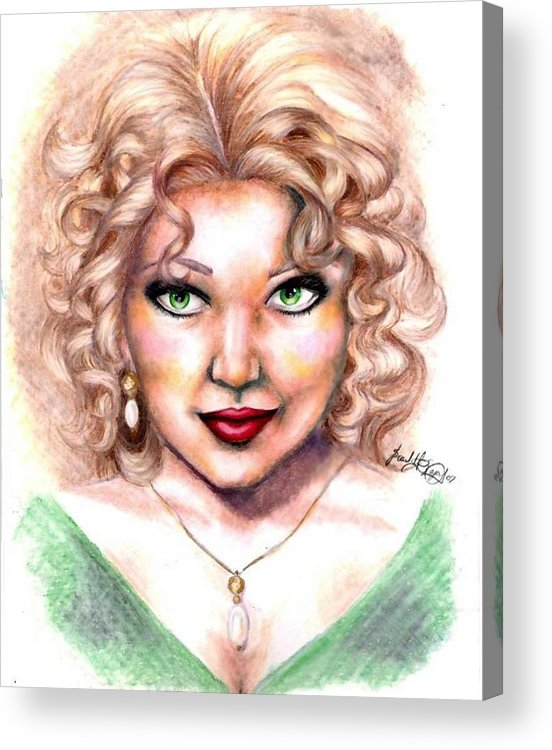 Portrait Acrylic Print featuring the drawing Walk on the Wild Side by Scarlett Royal