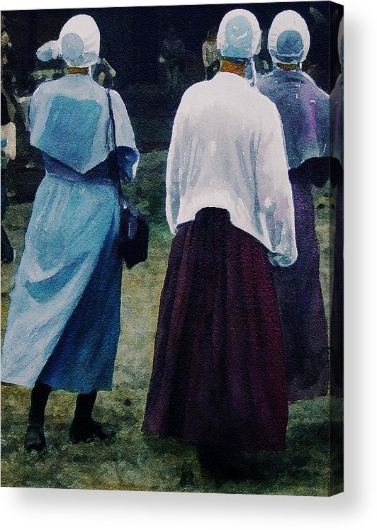 Oil Acrylic Print featuring the painting War Eagle Ladies by Tom Herrin