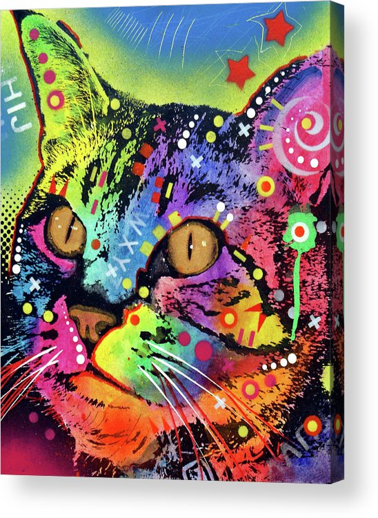 Alpha Acrylic Print featuring the mixed media Alpha by Dean Russo