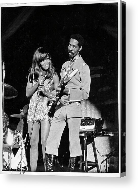 Music Acrylic Print featuring the photograph Ike & Tina At The Greek by Michael Ochs Archives