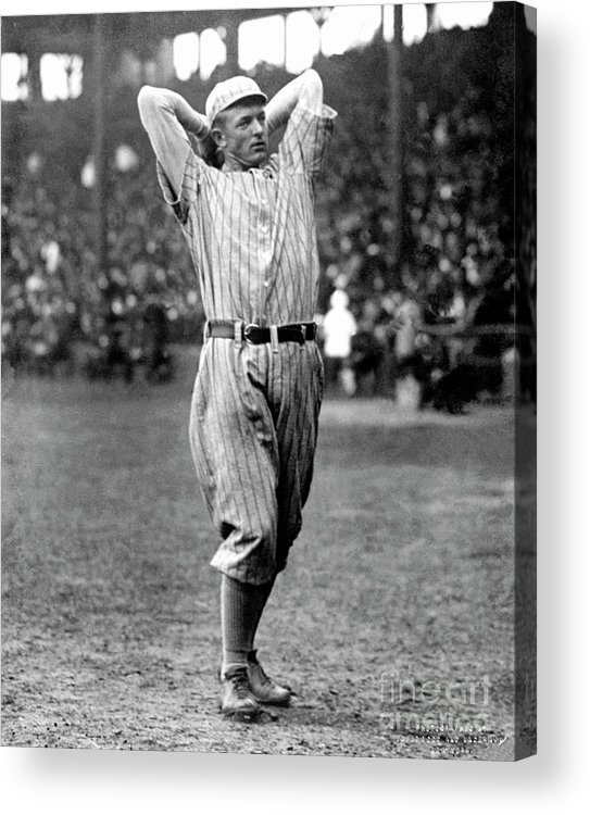 Baseball Pitcher Acrylic Print featuring the photograph National Baseball Hall Of Fame Library by National Baseball Hall Of Fame Library