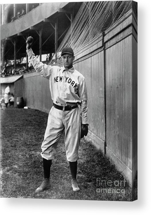 Sports Ball Acrylic Print featuring the photograph National Baseball Hall Of Fame Library by National Baseball Hall Of Fame Library