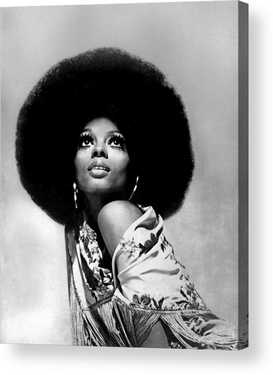 Diana Ross Acrylic Print featuring the photograph Diana Ross Portrait Session by Harry Langdon