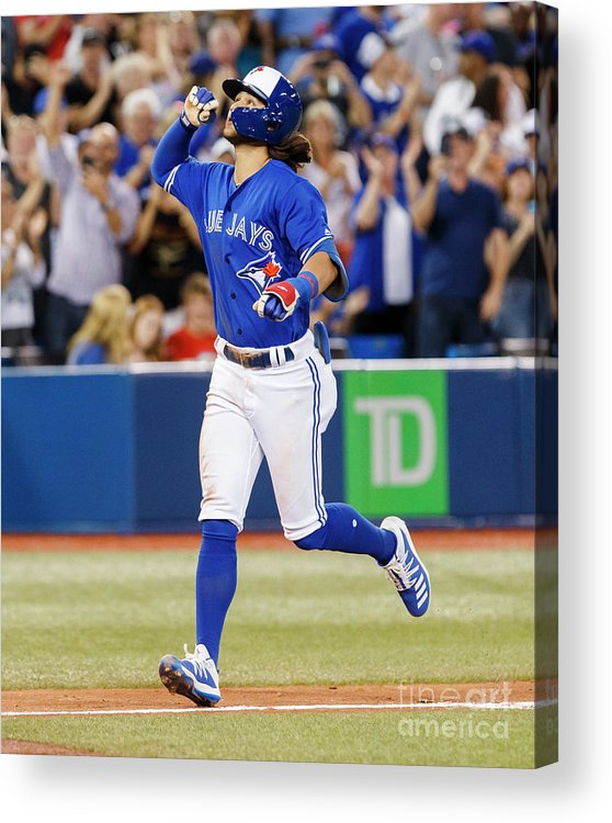 People Acrylic Print featuring the photograph New York Yankees V Toronto Blue Jays by Mark Blinch