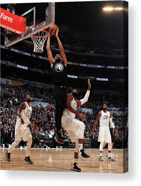 Nba Pro Basketball Acrylic Print featuring the photograph 2018 Nba All-star Game by Nathaniel S. Butler