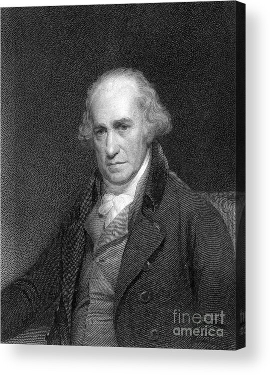 Event Acrylic Print featuring the drawing James Watt, Scottish Engineer by Print Collector