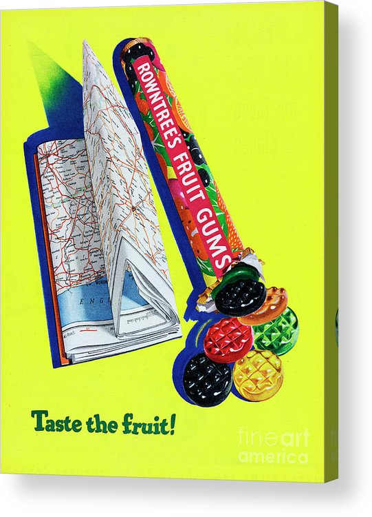 1950-1959 Acrylic Print featuring the photograph Rowntrees Fruit Gums by Picture Post