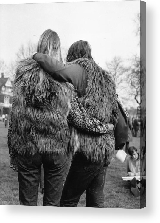 People Acrylic Print featuring the photograph Afghan Coats by Evening Standard