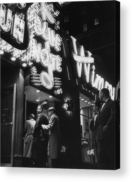 Crowd Acrylic Print featuring the photograph At The Blue Note Cafe by Chicago History Museum