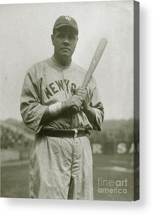 People Acrylic Print featuring the photograph Babe Ruth Aetherial by Transcendental Graphics