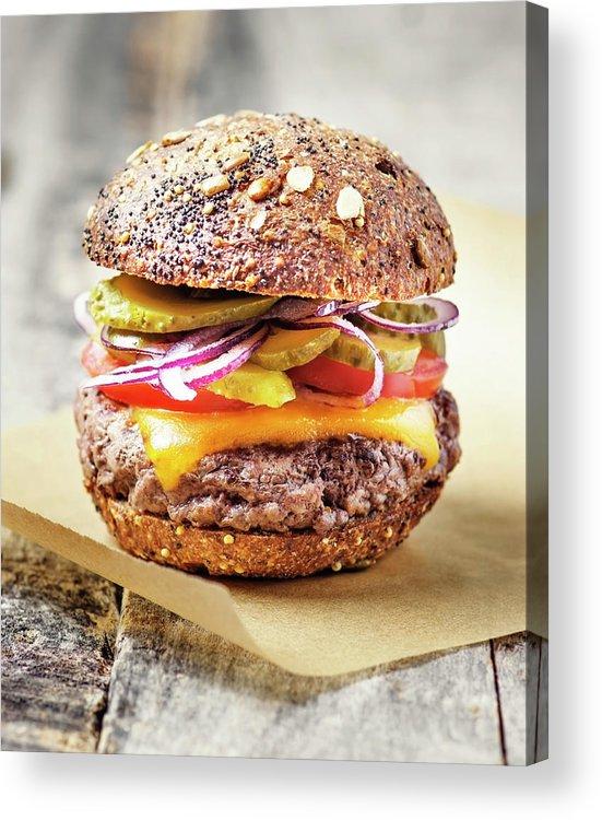 Bun Acrylic Print featuring the photograph Burger by Claudia Totir