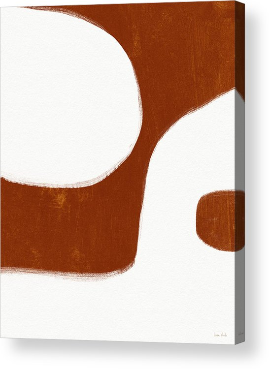 Modern Acrylic Print featuring the painting Burnt Orange Drift 1- Art By Linda Woods by Linda Woods