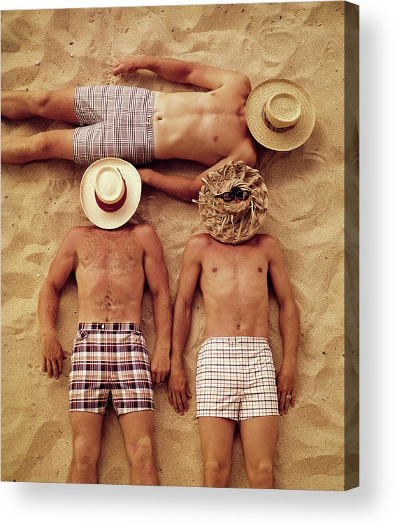 People Acrylic Print featuring the photograph Covered Faces by Tom Kelley Archive