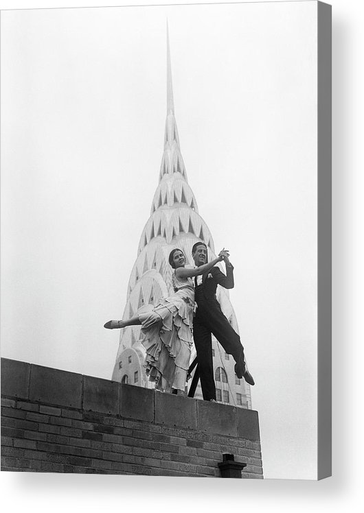 Artist Acrylic Print featuring the photograph Dancing By The Chrysler Building by Bettmann