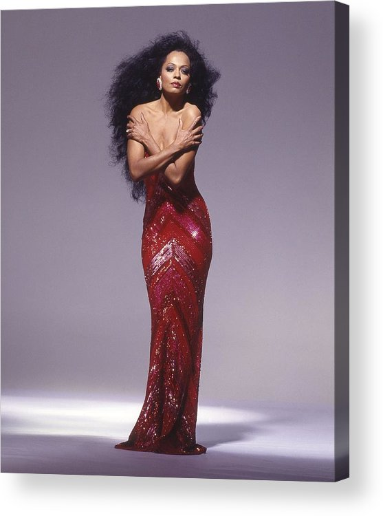 Singer Acrylic Print featuring the photograph Diana Ross Portrait Session by Harry Langdon