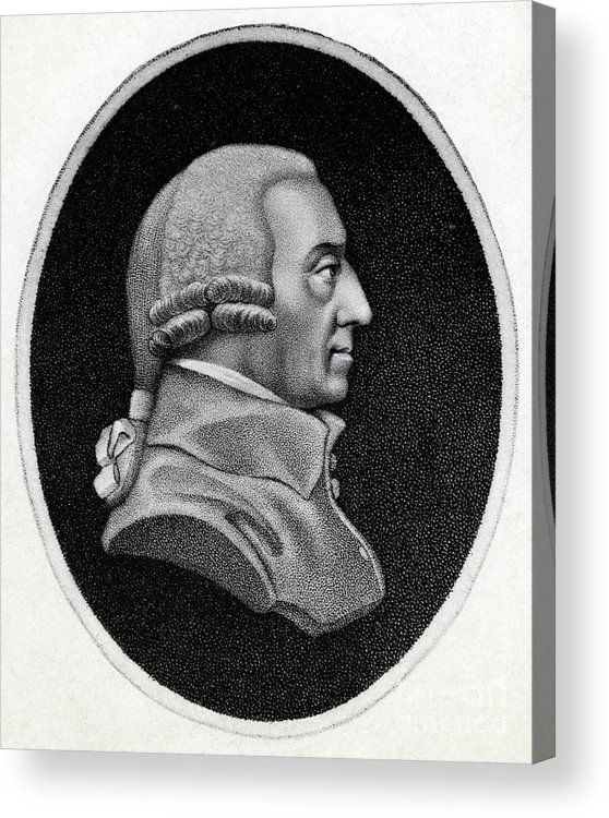 Engraving Acrylic Print featuring the photograph Engraving Of Economist Adam Smith by Bettmann