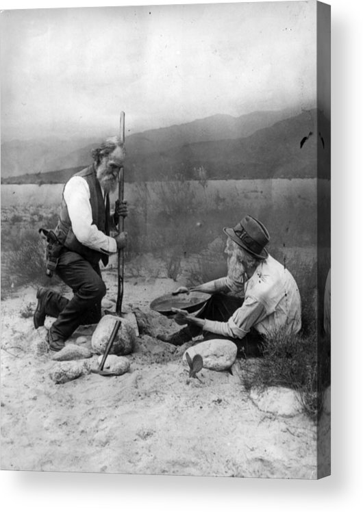 1850-1859 Acrylic Print featuring the photograph Gold Prospectors by General Photographic Agency