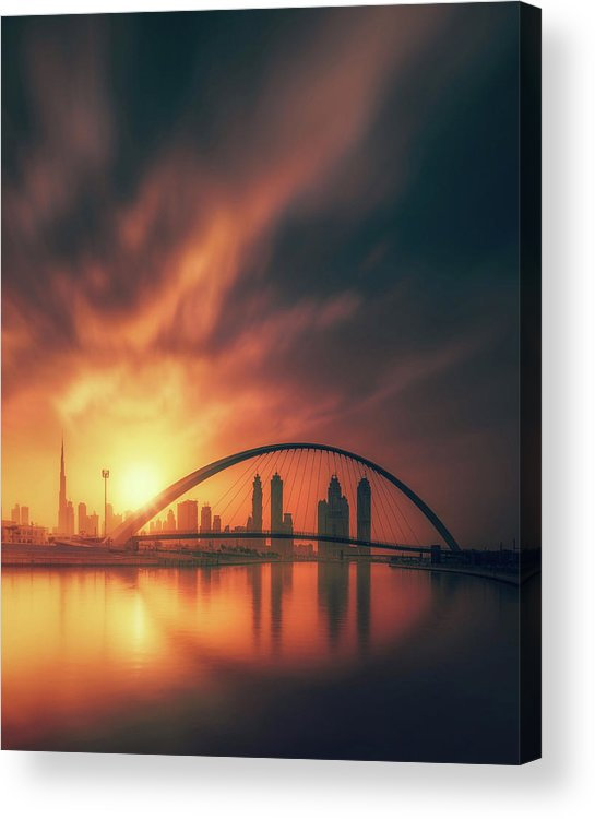 Uae Acrylic Print featuring the photograph Golden Sunrise by David George