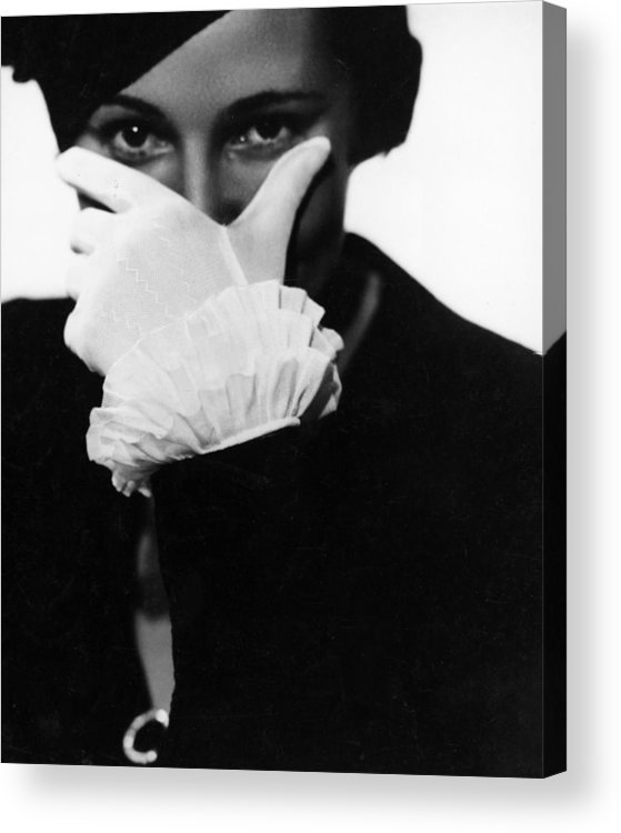Hiding Acrylic Print featuring the photograph Half Concealed Face by Nicolet