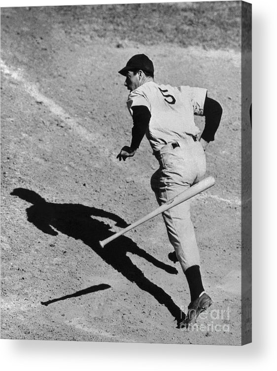 People Acrylic Print featuring the photograph Joe Getting The Hit by Bettmann