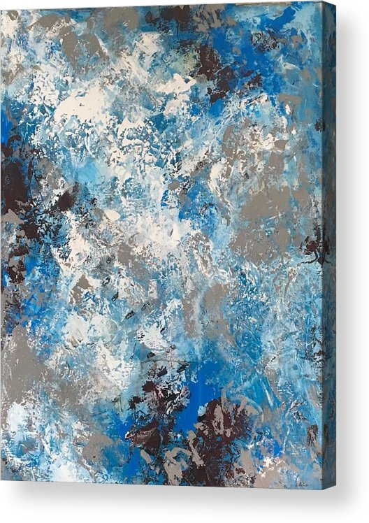 Abstractart Acrylic Print featuring the painting Joyful Beginnings by Suzzanna Frank