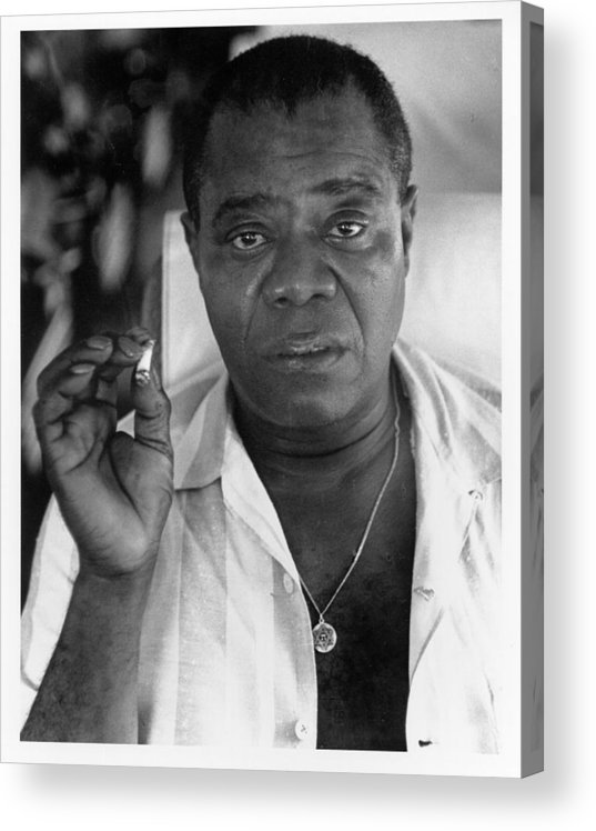 People Acrylic Print featuring the photograph Louis Armstrong Portrait by Herb Snitzer