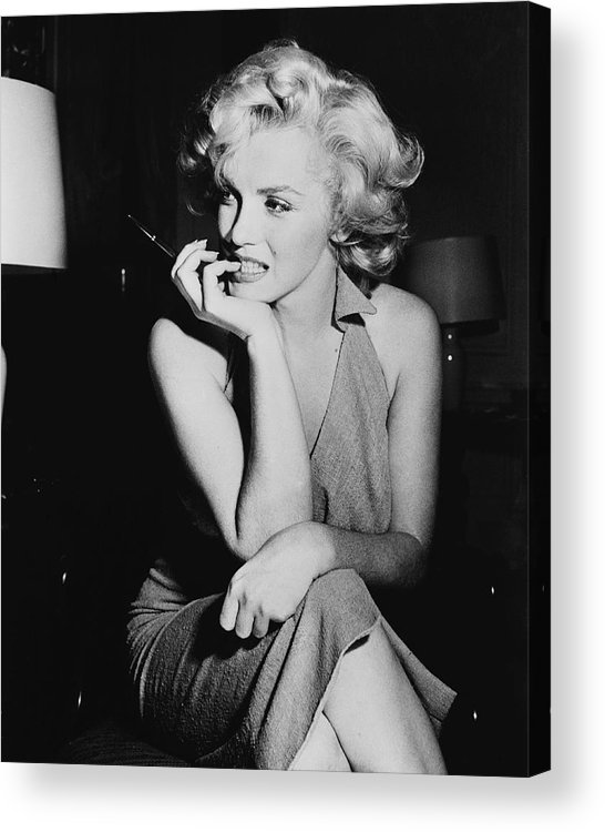 Human Arm Acrylic Print featuring the photograph Marilyn Monroe by Keystone Features