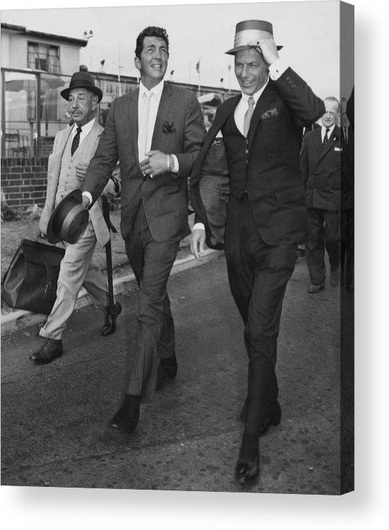 Singer Acrylic Print featuring the photograph Martin And Sinatra by J. Wilds