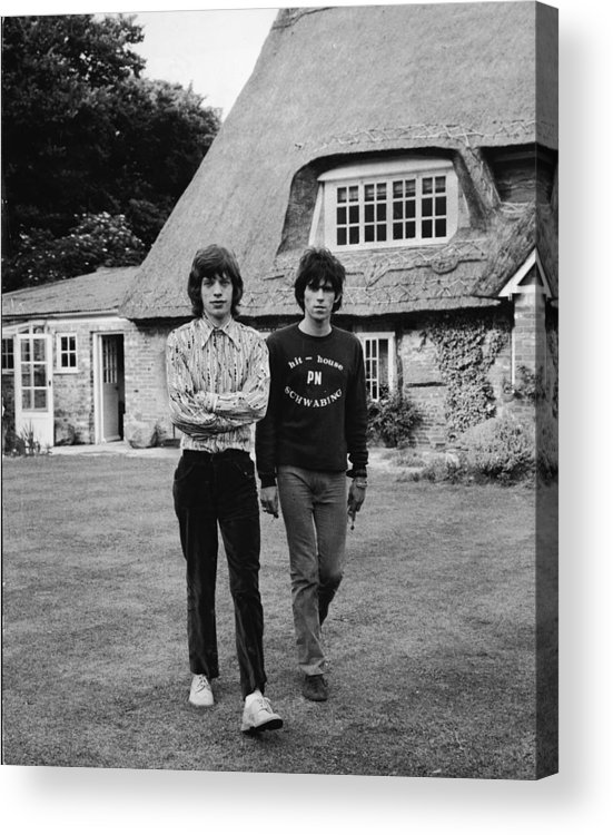 Rock Music Acrylic Print featuring the photograph Mick & Keith In The Country by Express Newspapers