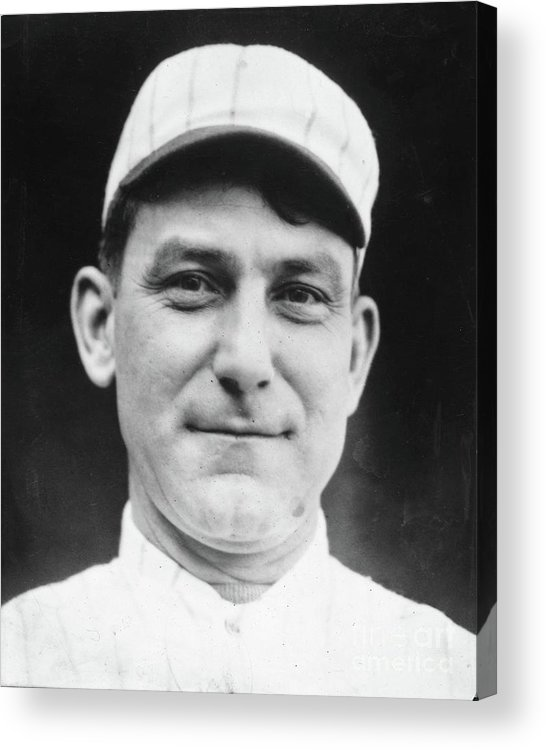 People Acrylic Print featuring the photograph Nap Lajoie Portrait by Transcendental Graphics