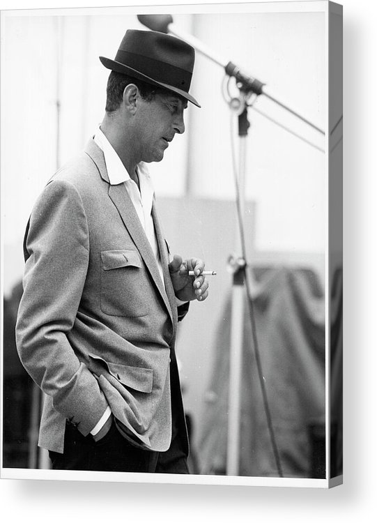 Black And White Acrylic Print featuring the photograph Photo Of Dean Martin by Michael Ochs Archives