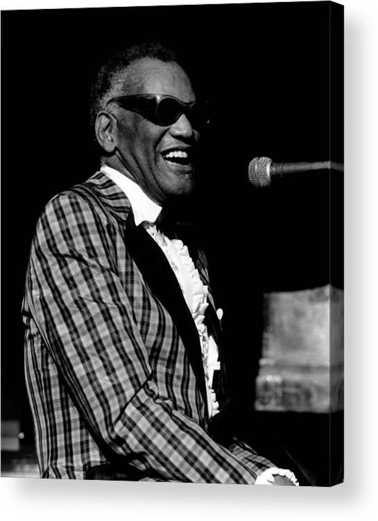 1980-1989 Acrylic Print featuring the photograph Photo Of Ray Charles by David Redfern
