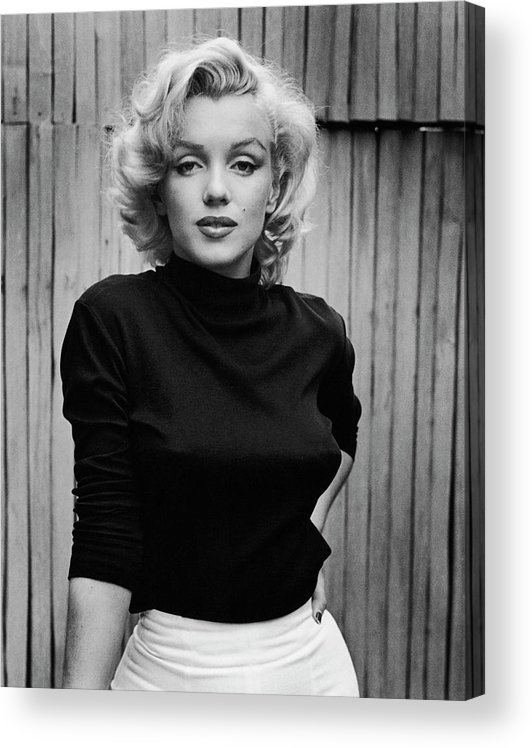 Timeincown Acrylic Print featuring the photograph Portrait Of Marilyn Monroe by Alfred Eisenstaedt